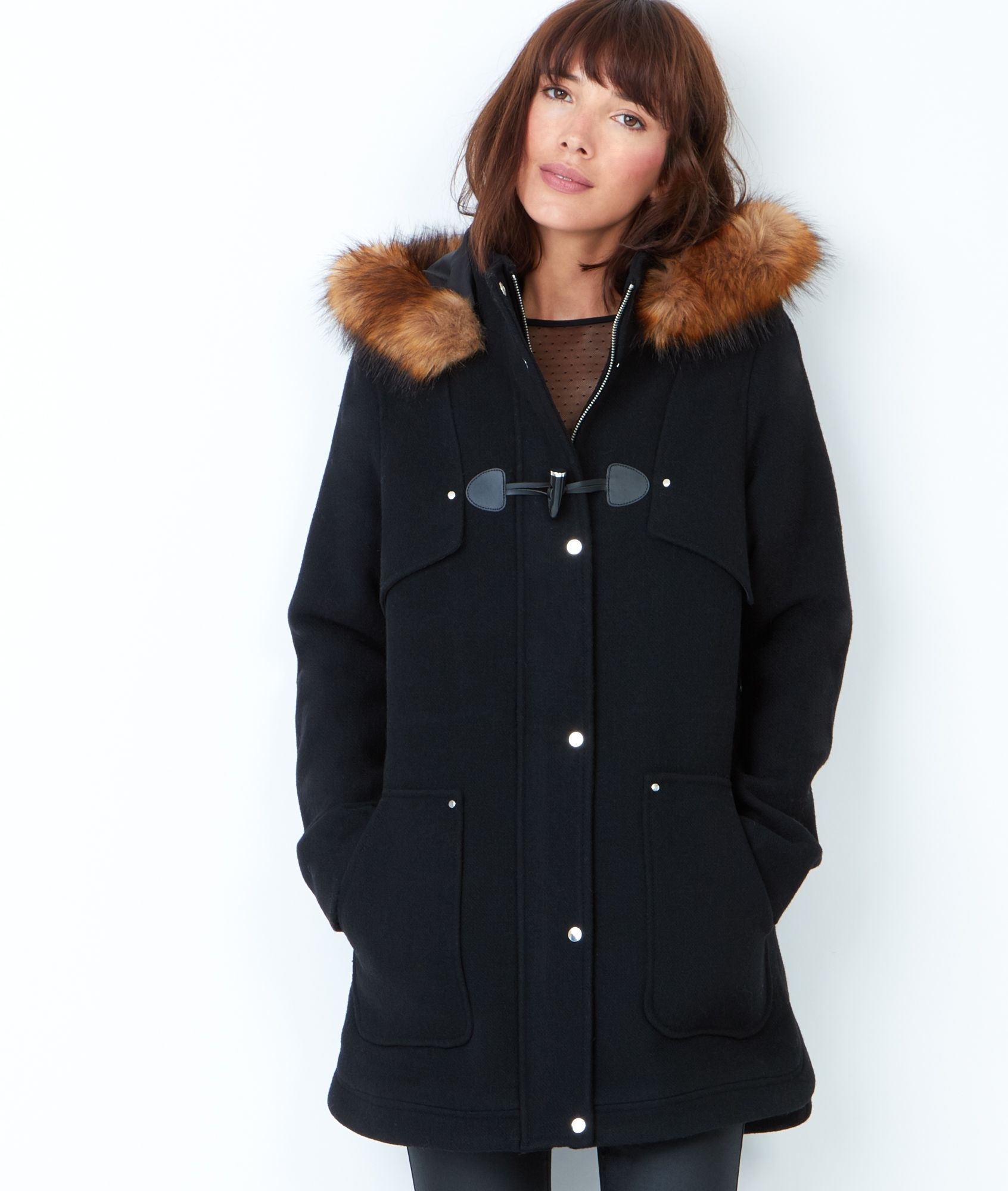 Extrêmement Manteau en laine, duffle coat par Etam. À retrouver dans les  QX52