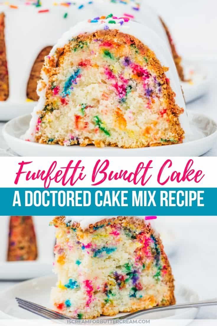 Funfetti bundt cake a doctored cake mix recipe in 2020