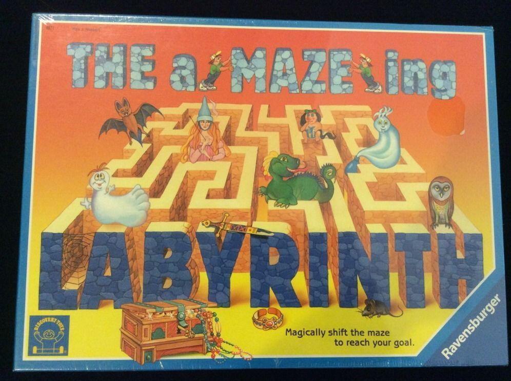 The Amazing A Maze Ing Labyrinth Game Ravensburger Box Dented New #Ravensburger
