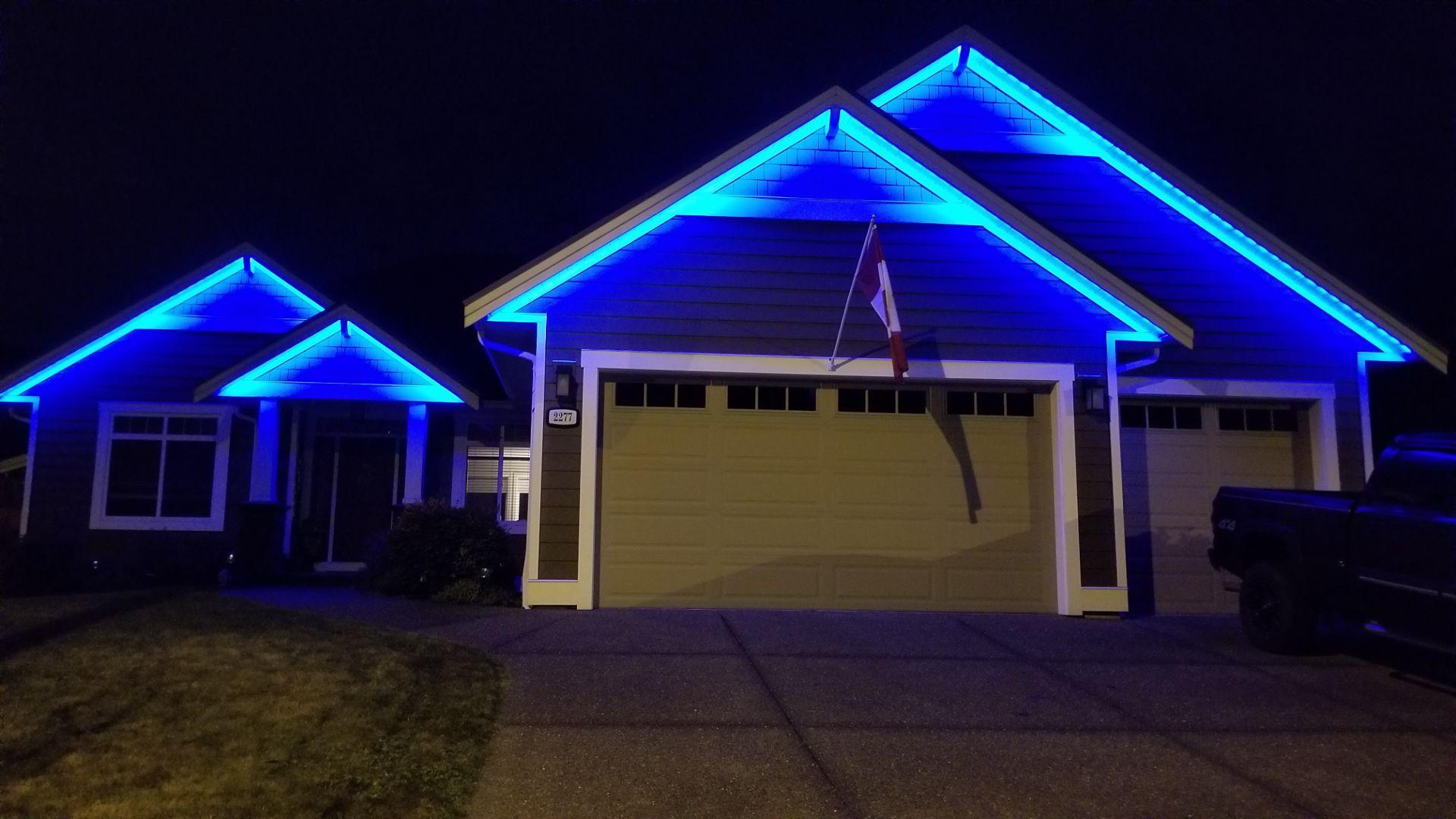 outdoor christmas led setup led