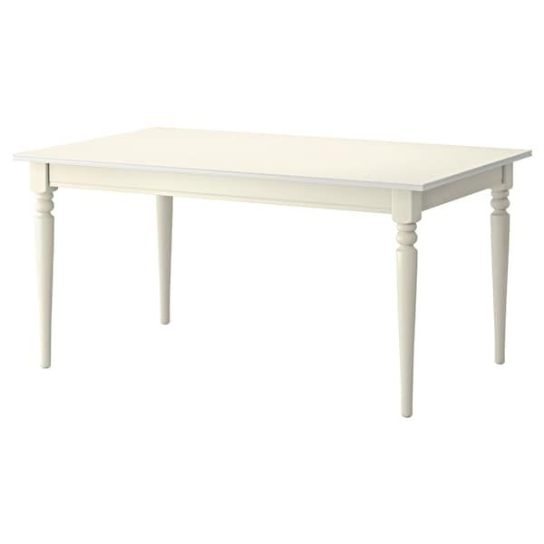 ingatorp table extensible blanc 155