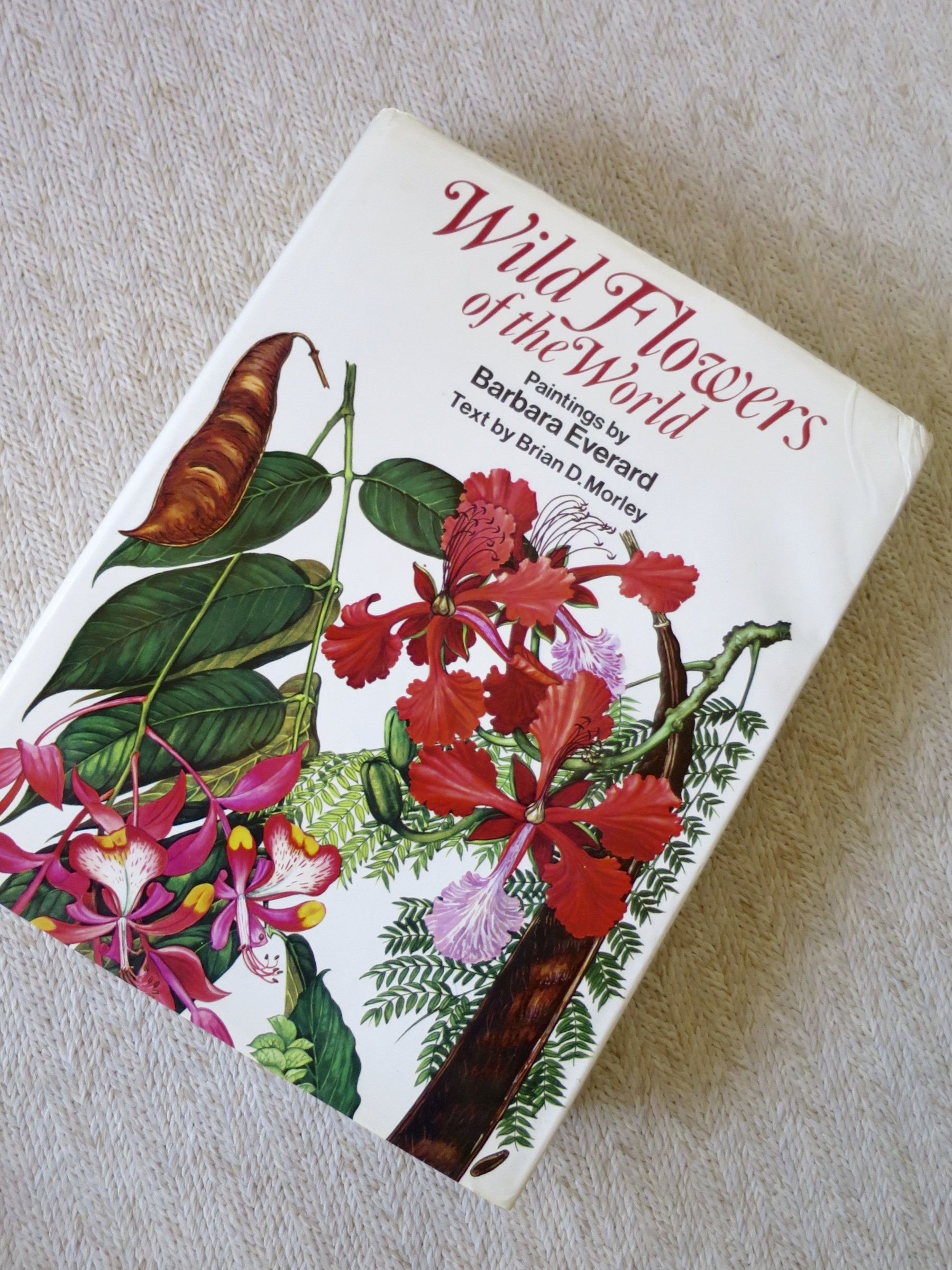 Wild Flowers Of The World Paintings Book By Barbara Everard Brian Morley Text 1979 Color Plates Extensive List Details Painted Books Book Art Vintage Postcards