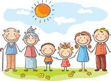 Família Feliz Dos Desenhos Animados Baixe Conteúdos De Alta