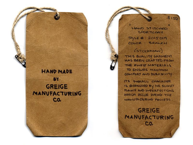 Greige - Clothing Hangtags' by Barnickel Design - Design Agency ...
