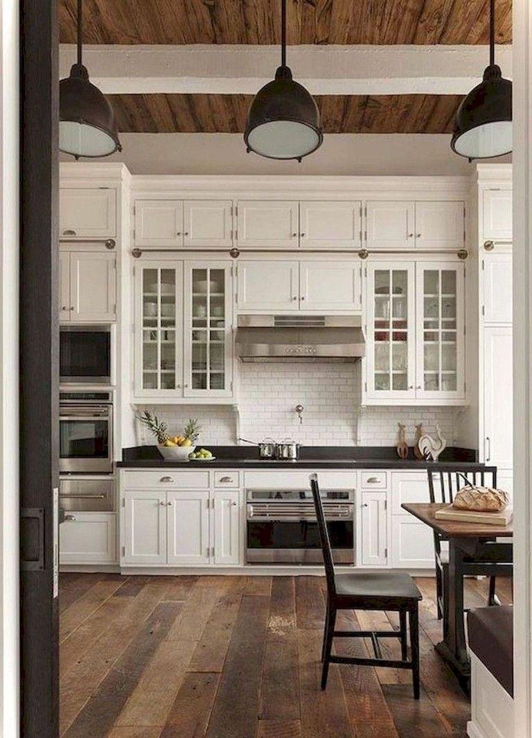 116 Stunning Modern Rustic Farmhouse Kitchen Cabinets Ideas