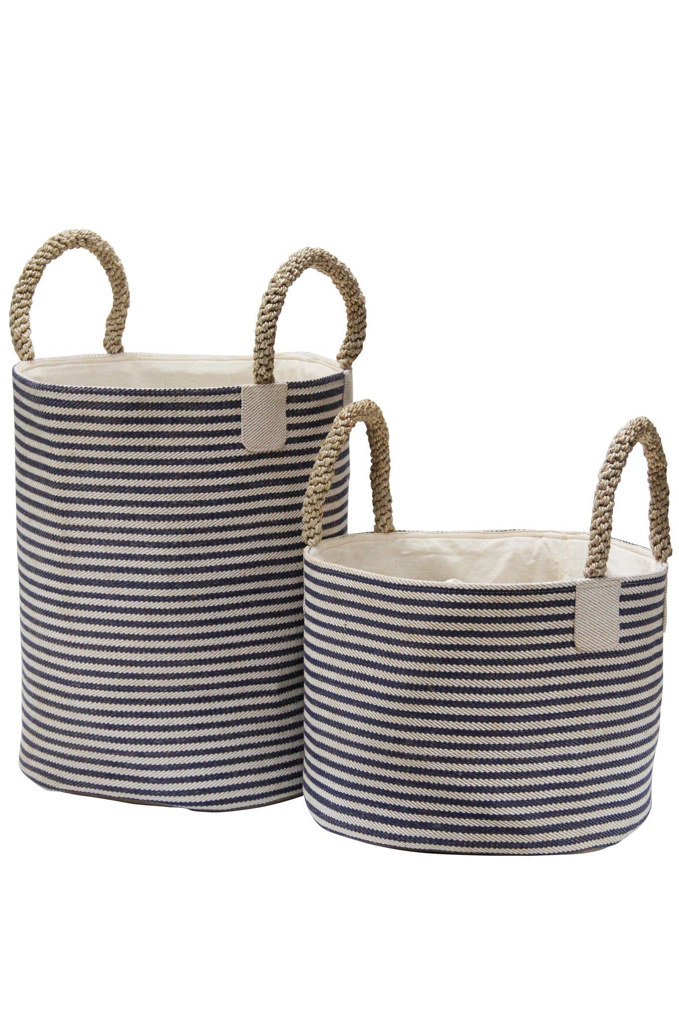 Beautiful Nautical Inspired Collection Of Baskets With Macrame