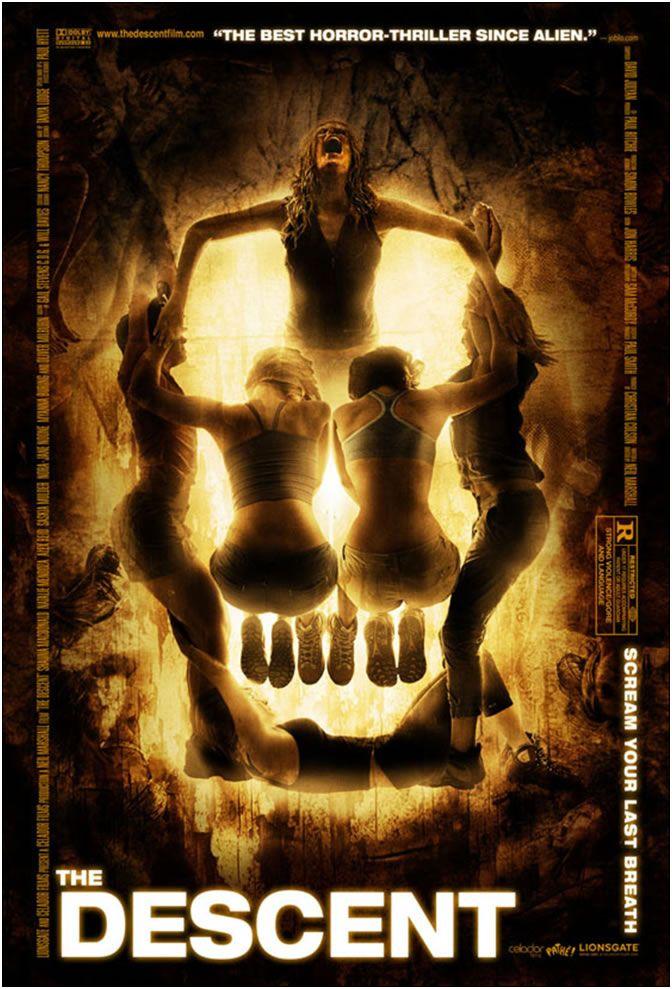 Abismo Do Medo The Descent Melhores Filmes De Terror Cartazes