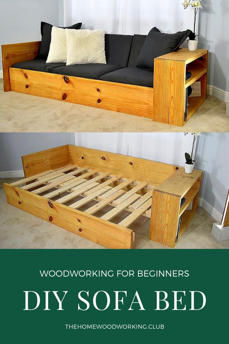 Photo of DIY Schlafsofa – Verwandeln Sie dieses Sofa in ein Bett – – #Bett #boysbedroom #…