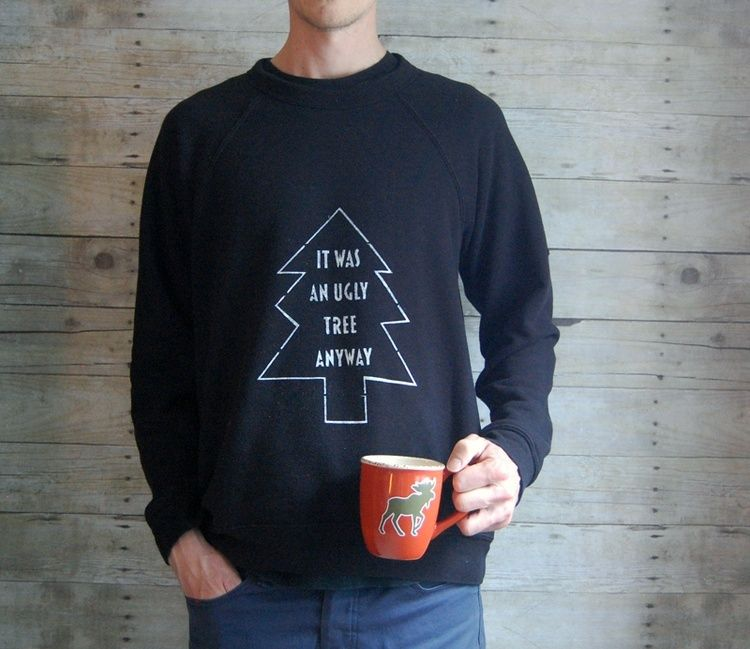Holiday DIY: Screen-printed Christmas sweaters