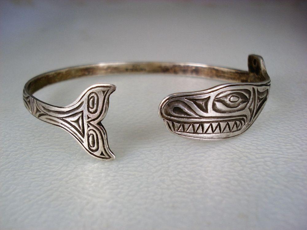 haida sterling bracelet Vintage