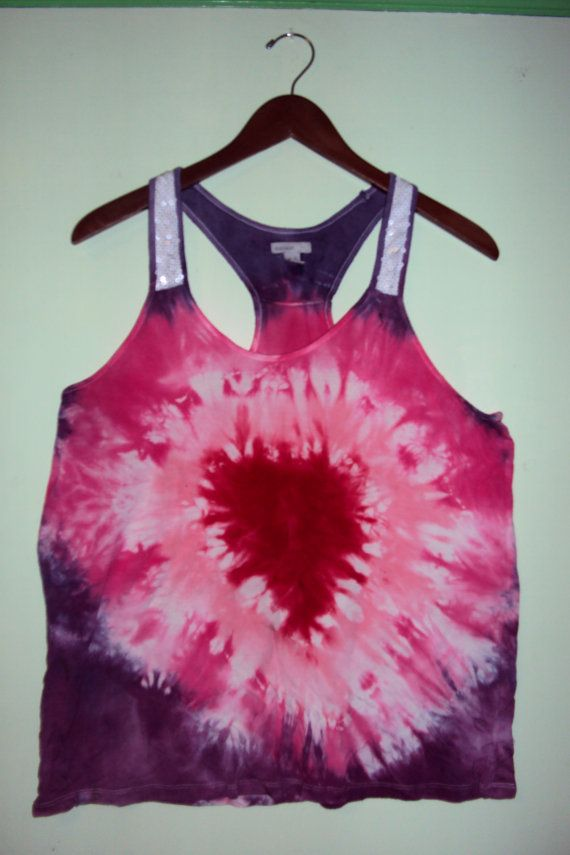 Show Some Heart Tank to Dye for Tie Dyes by DandelionBreak on Etsy, $15.00