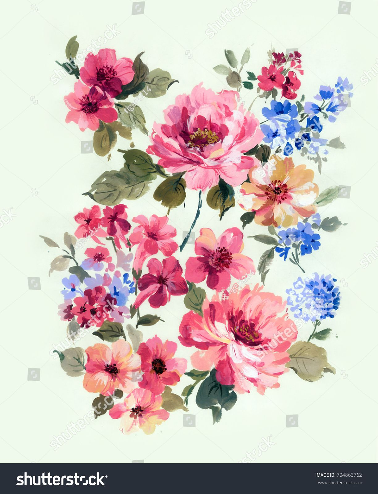 Enthusiasm Is Bold And Unrestrained Of Flowers The Leaves And Flowers Art Designunrestrained Bold Enthusiasm Flower Flower Painting Images Flower Art Leaf Art