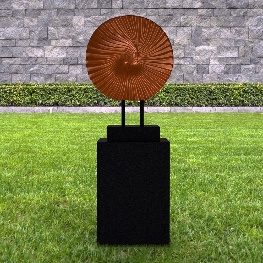 Cyclone Contemporary Garden Sculpture On Pedestal. Buy Now At Http://www.