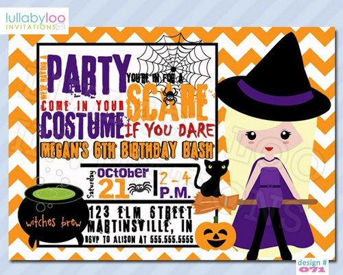 Halloween Birthday Party Invitations Free Printable Mabel - Halloween birthday invitations party