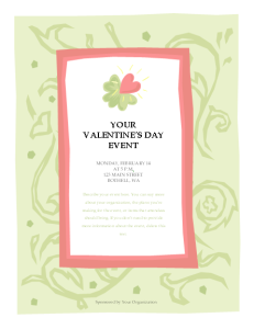 microsoft word valentines day event flyer template