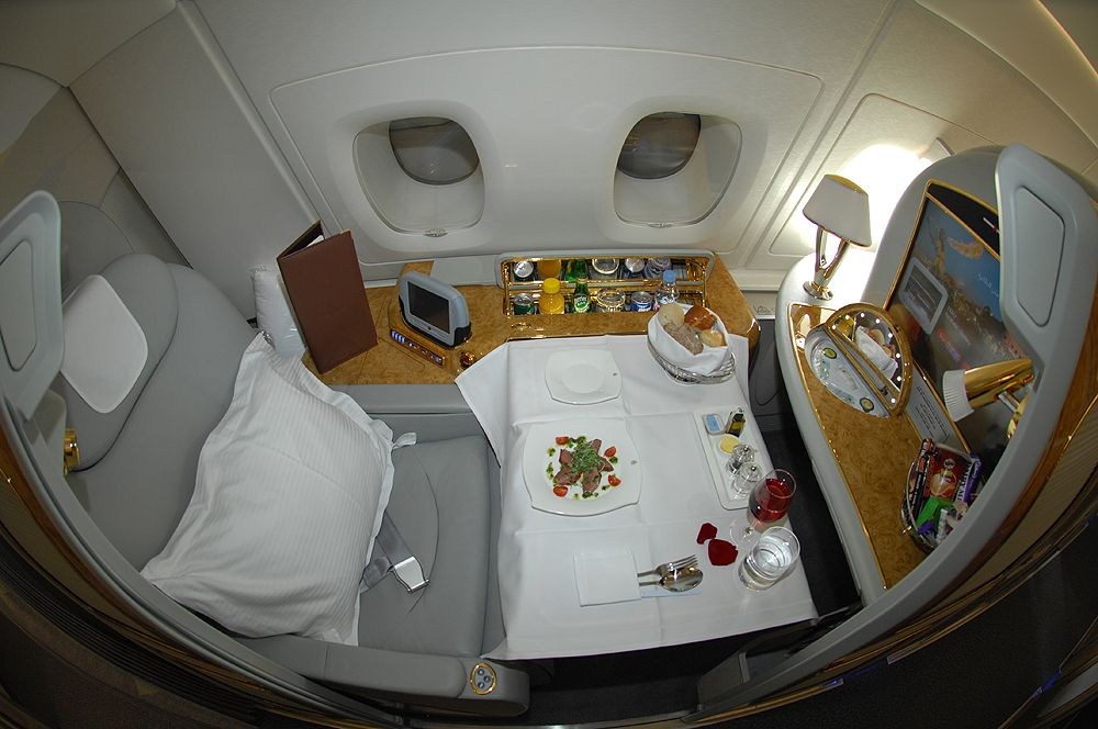 The Emirates A380 First Class Cabin One Indulgent Experience