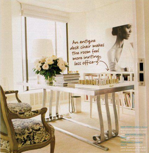 Aerin Lauderu0027s Office At Estee Lauder Via Domino