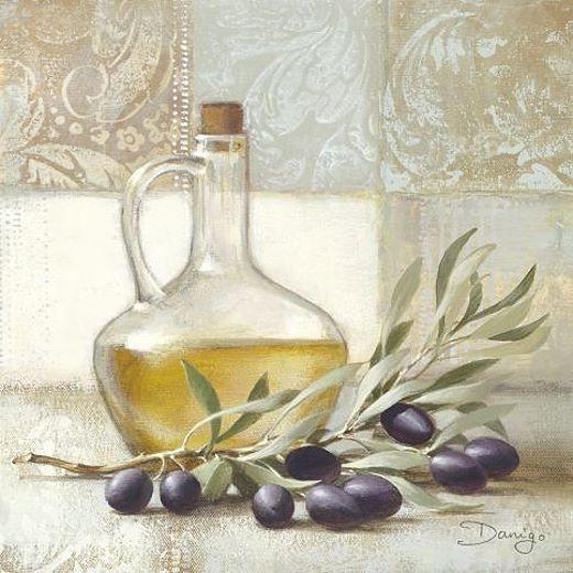 Danigo: Olive I Fertig Bild 30x30 Wandbild Küche Esszimmer Deko Landhaus    Kitchen   Pinterest   Azeite, Coisas Diferentes E Pintura Em Tecido