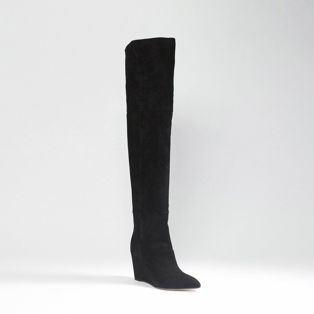 06e5119a053 Verve Suede Over The Knee Wedge Boot