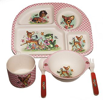 Wu & Wu Deer and Friends Dinner Set, gorgeously kitsch and cute, this five piece dinner set is made from eco-friendly bamboo fiber material and is strong and can be dishwashed. Yet, it contains no plastics and will eventually biodegrade. Set contains a tray with many compartments, a cup, a bowl and a fork and […]