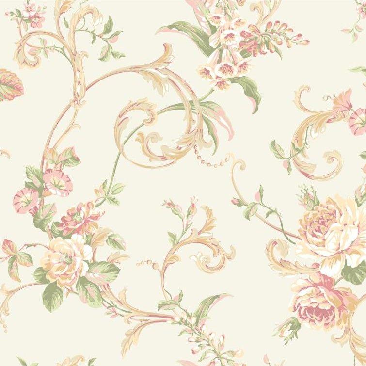 York Wallcoverings Hyde Park Floral Botanical Wallpaper