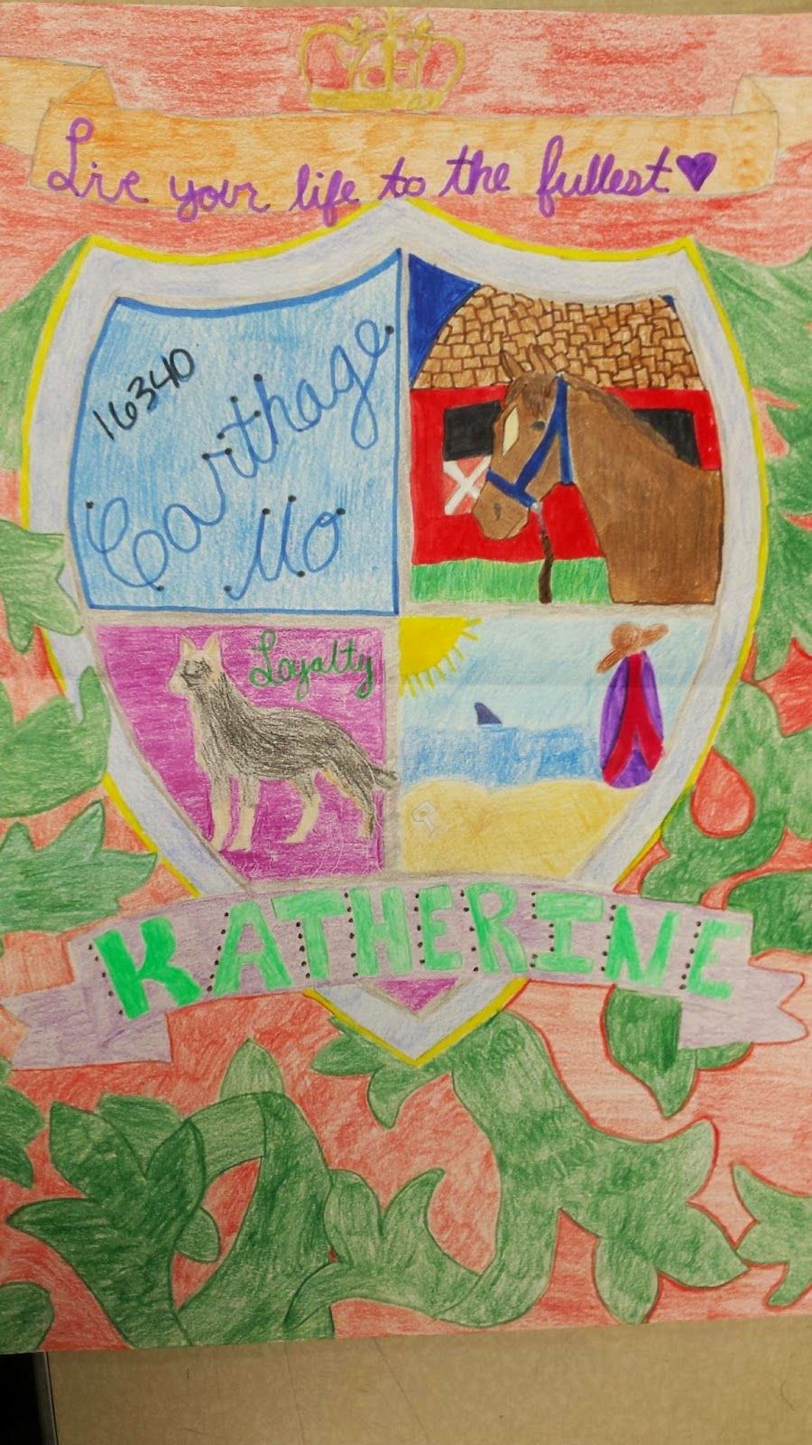 Personal Coat Of Arms Project Coat Of Arms Elementary Art Art Lessons Elementary