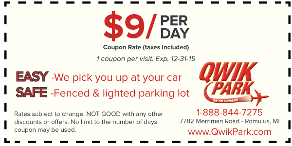 Detroit Metro Airport Parking Coupons By Printing Our Dtw Airport Coupon You Are Guaranteeing One Of The Best Ways To Airport Parking Detroit Airport Airport