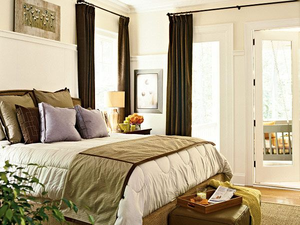 Ideas For The Master Bedroom   Long Curtain Rod Over Door. Good For The  French Door I Want
