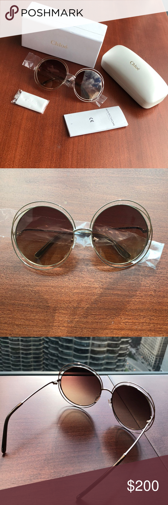 751452bd5a 💎FinalPrice💎Brand New Chloe Rose Gold Sunglasses Brand new and never  used. Style number CE114S Frame Color  (784) Rose Gold   Transparent Brown  Polarized ...