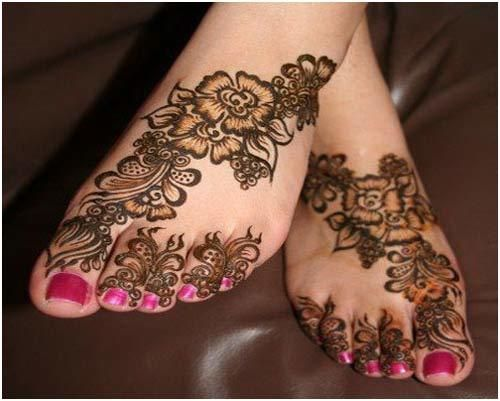 Mehndi On Leg : Best leg mehndi designs to try in