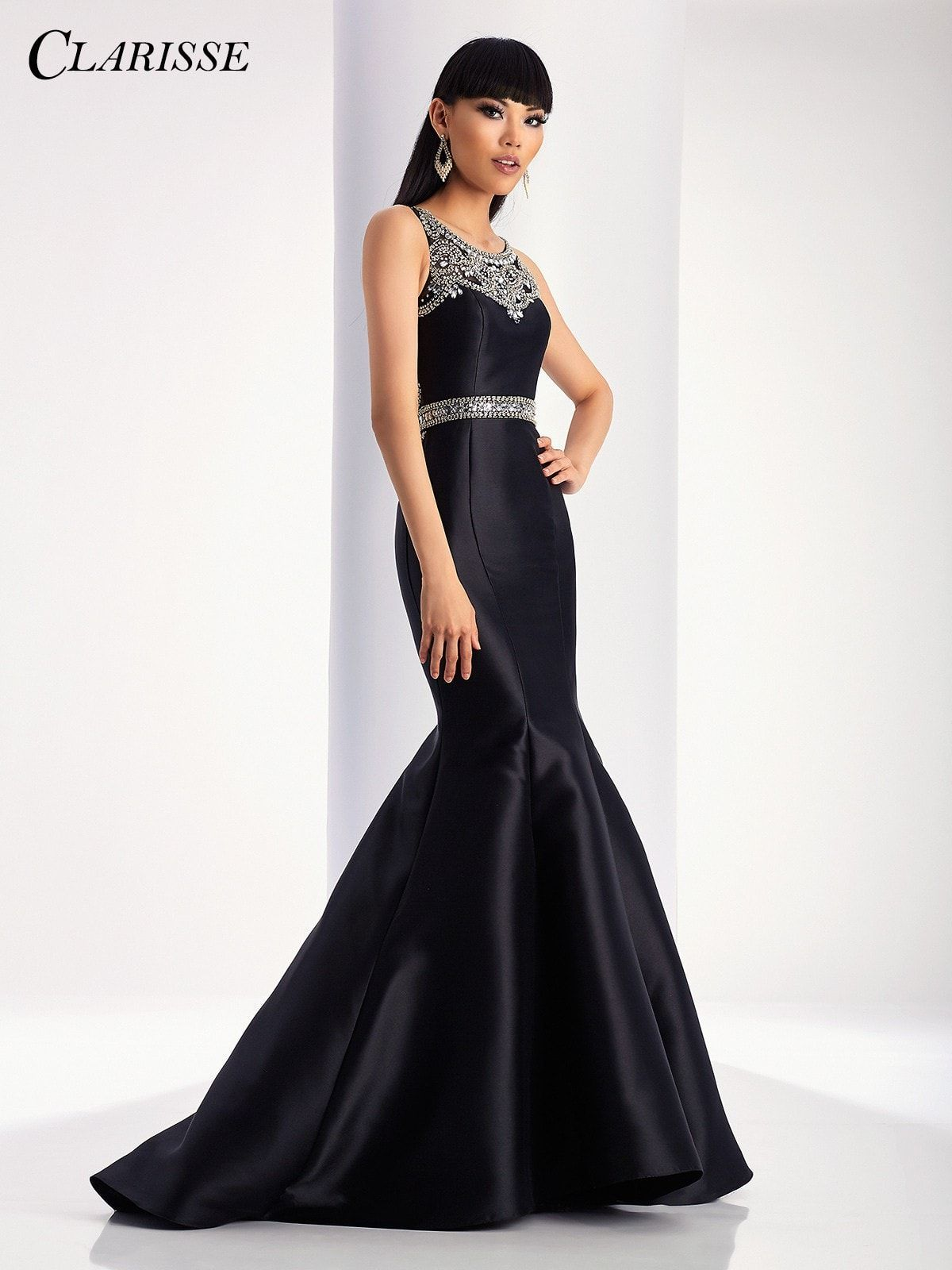 Clarisse prom black mermaid prom dress black mermaid prom