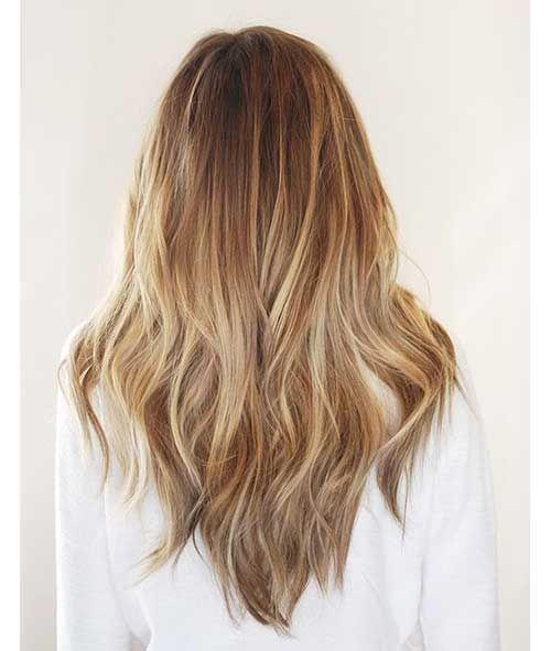Layered V Shape Haircut Haarschnitt Frisuren Langhaarfrisuren