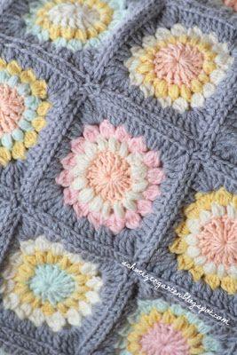 Crochet Blanket Granny Square Häkeldecken Anleitung Vasarely