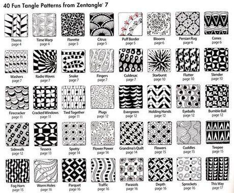 zentangles mit kleinen mustern zu sch nen bildern schule kalender und muster. Black Bedroom Furniture Sets. Home Design Ideas