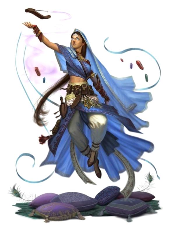 Female Psychic Monk Fantasy Art