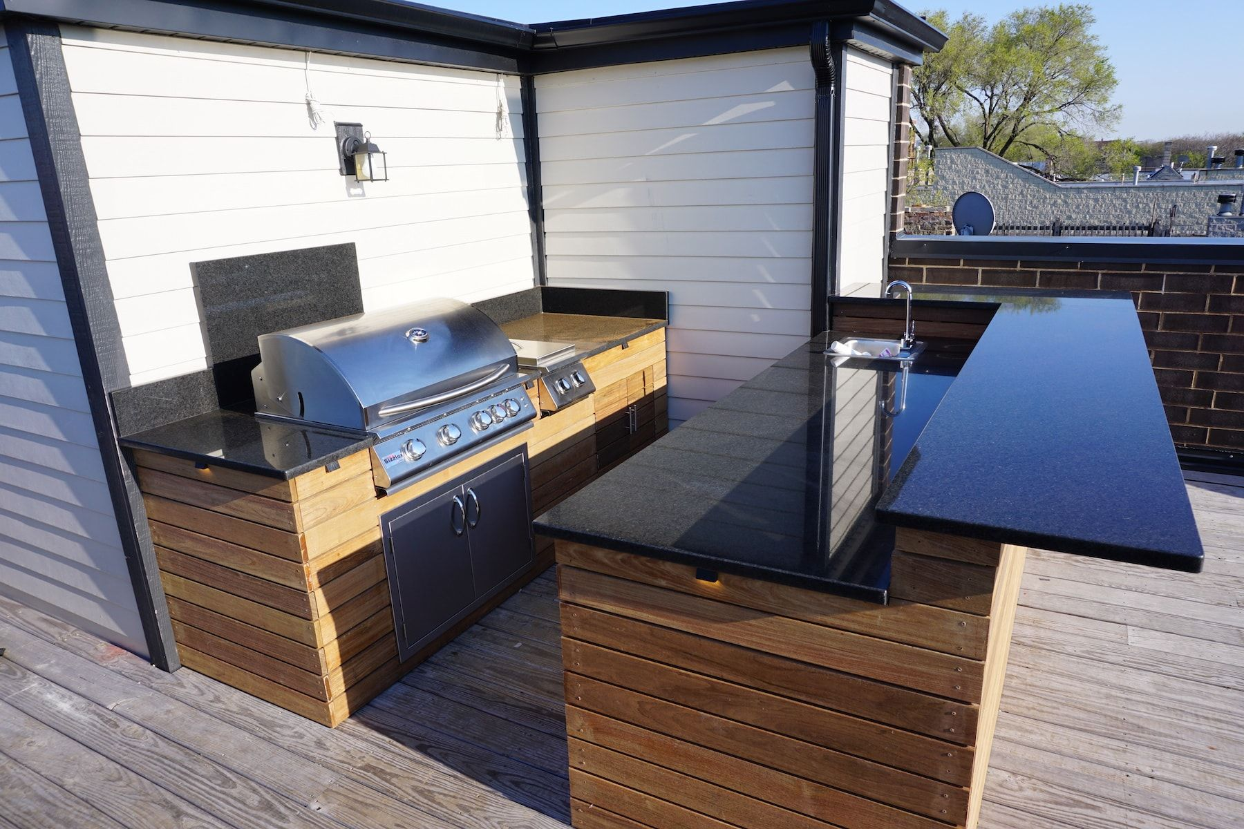 Image Result For Beautiful Rooftop Deck With Outdoor Kitchen Deck Outdoor Kitchen Outdoor Decor
