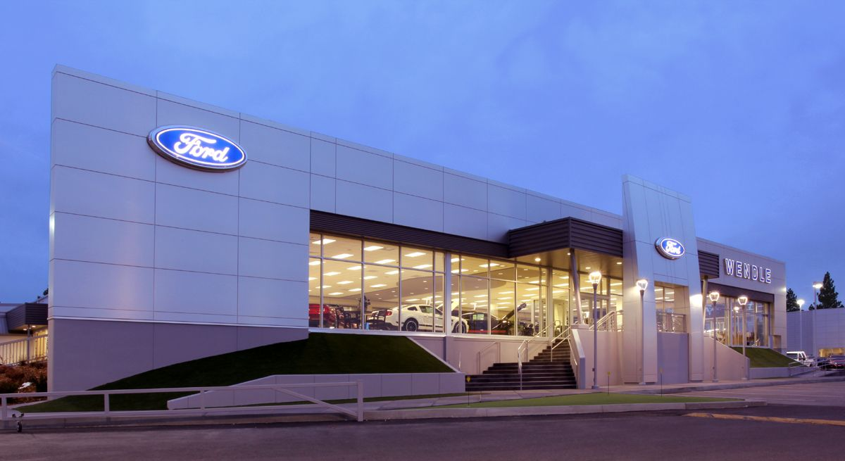 Wendle Ford dealership in Spokane WA. Ferry building san