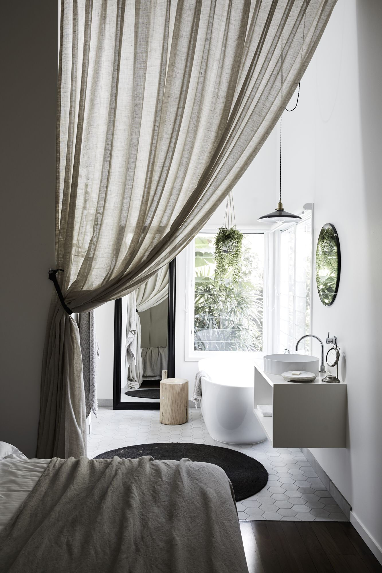 Window behind bed ideas  the chalet  byron beach abodes  home  pinterest  beach house