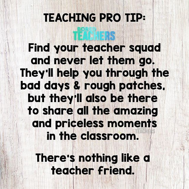 TAG your teacher squad to let them know how much they mean to you