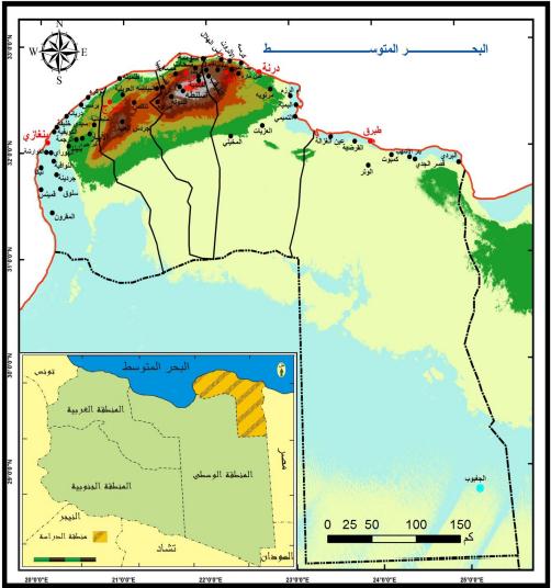الجغرافيا دراسات و أبحاث جغرافية مظاهر السطح في إقليم المنطقة الشرقية بليبيا وتأثير Places To Visit Geography Blog Posts