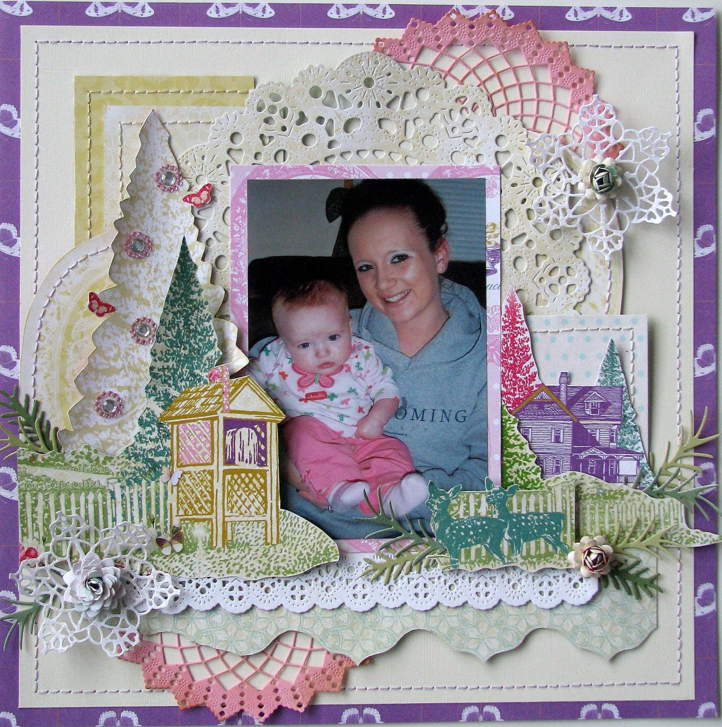 Winter Wonderland - Scrapbook.com...how nice we girls need to do this together ...Can't wait...