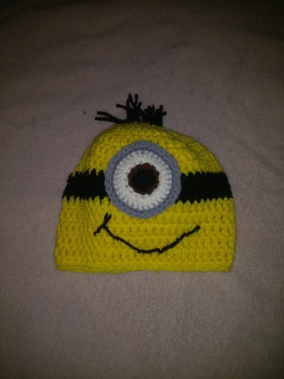 For my Sister! Minion hat crochet pattern | Minion Crochet Hat by ...