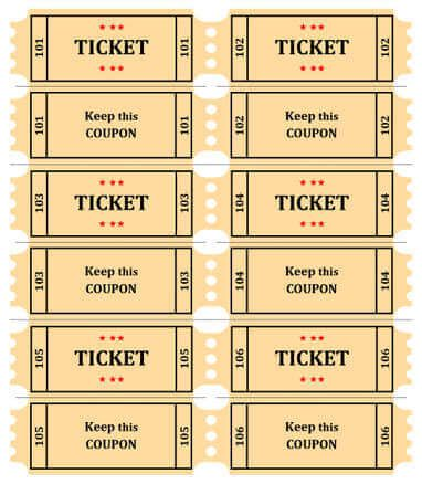 Free Coupon / Ticket Template by Hloom Drew\u0027s Birthday - food tickets template