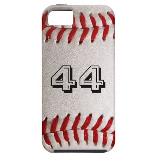 Baseball with customizable number iPhone 5 cases