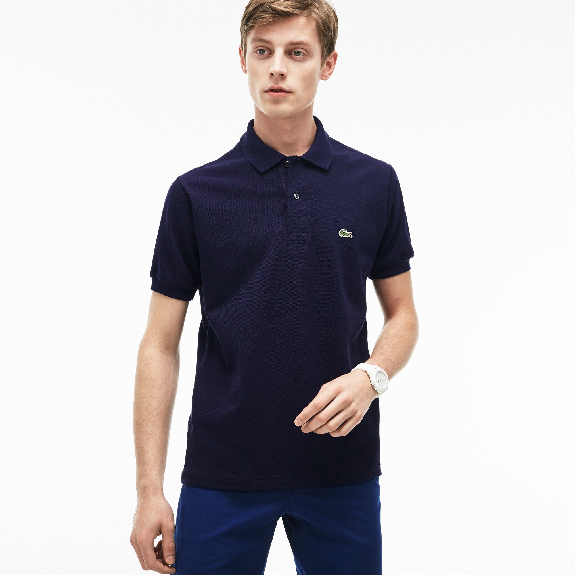 fbea7bc7b8 LACOSTE Men's Classic L.12.12 Chine Piqué Polo Shirt - blue pigment chine. # lacoste #cloth #