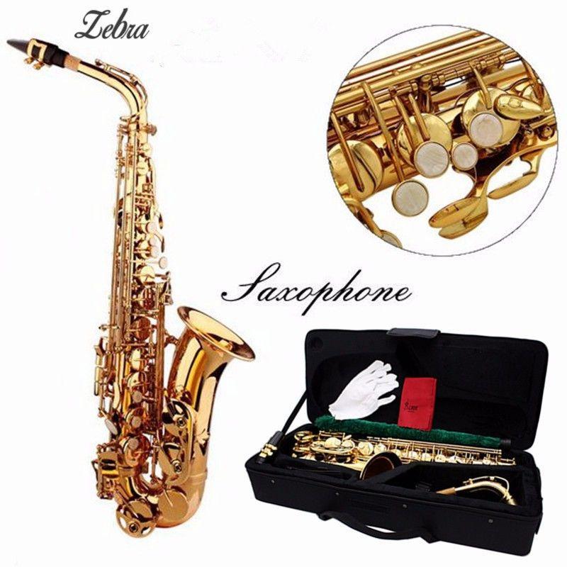Zebra Alto Eb Golden Saxophone  #bands #producer #recording #performing #musicians