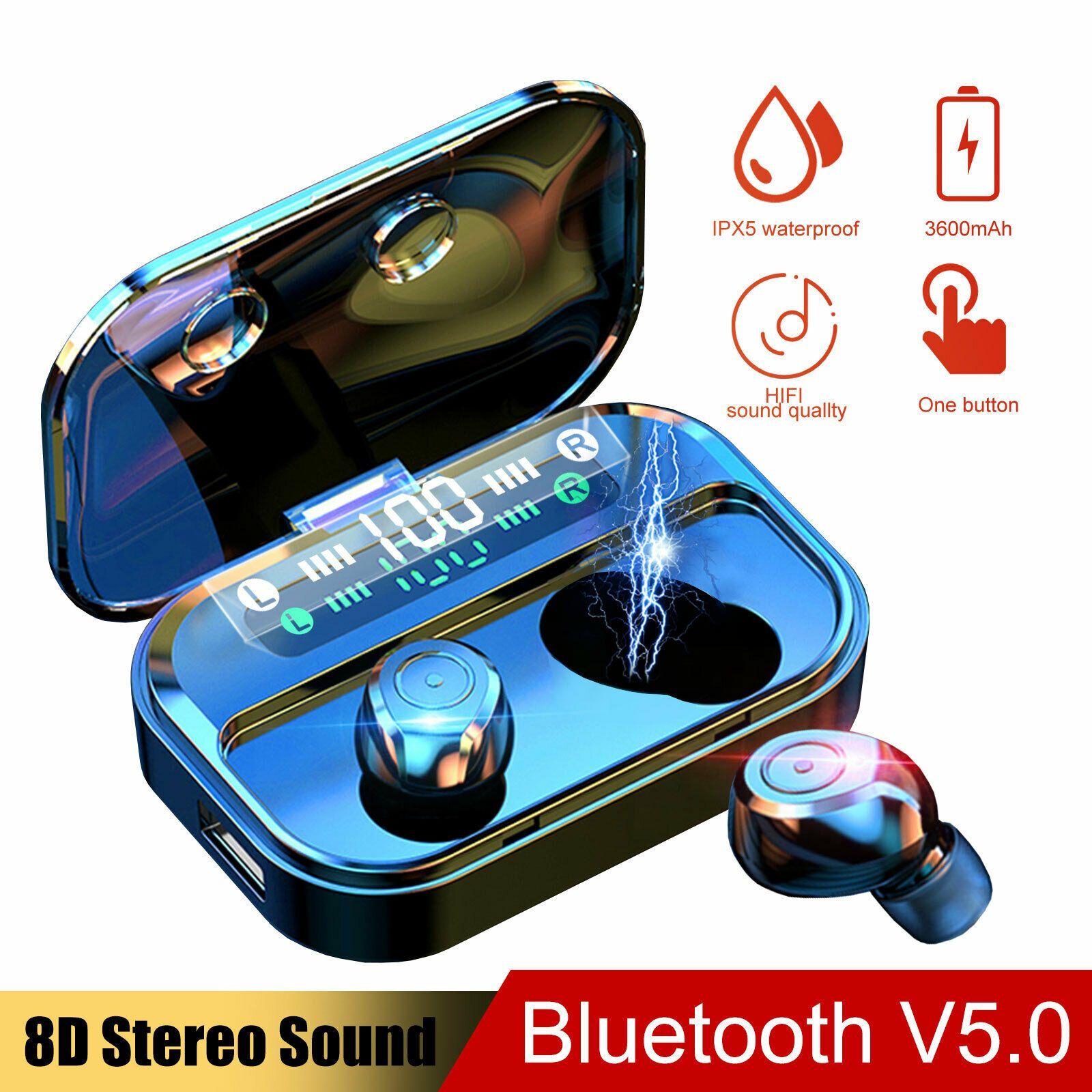 New Bluetooth 5 0 Headset Tws Wireless Earphones Mini Earbuds Stereo Headphones Ideas Of Hea In 2020 Wireless Headphones Wireless Earphones Bluetooth Earbuds Sports