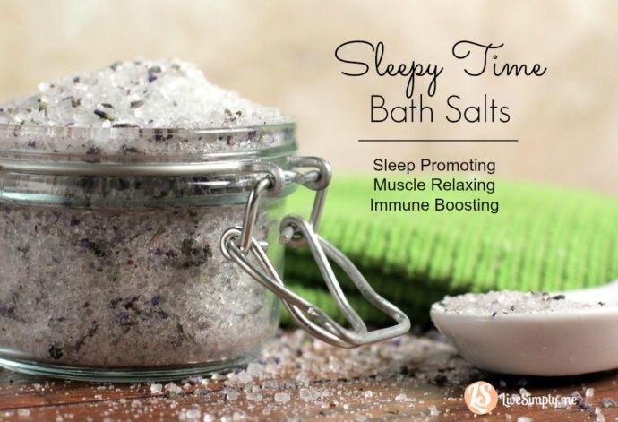 Sleep Time Bath Salts: Sleep Promoting, Muscle Relaxing, Immune Boosting