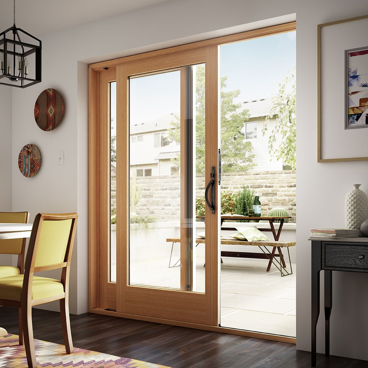 The Beauty Of Genuine Wood Shines Through On This Sierra Pacific Sliding Patio Door Glass Doors Patio Sliding Glass Doors Patio Best Sliding Glass Doors