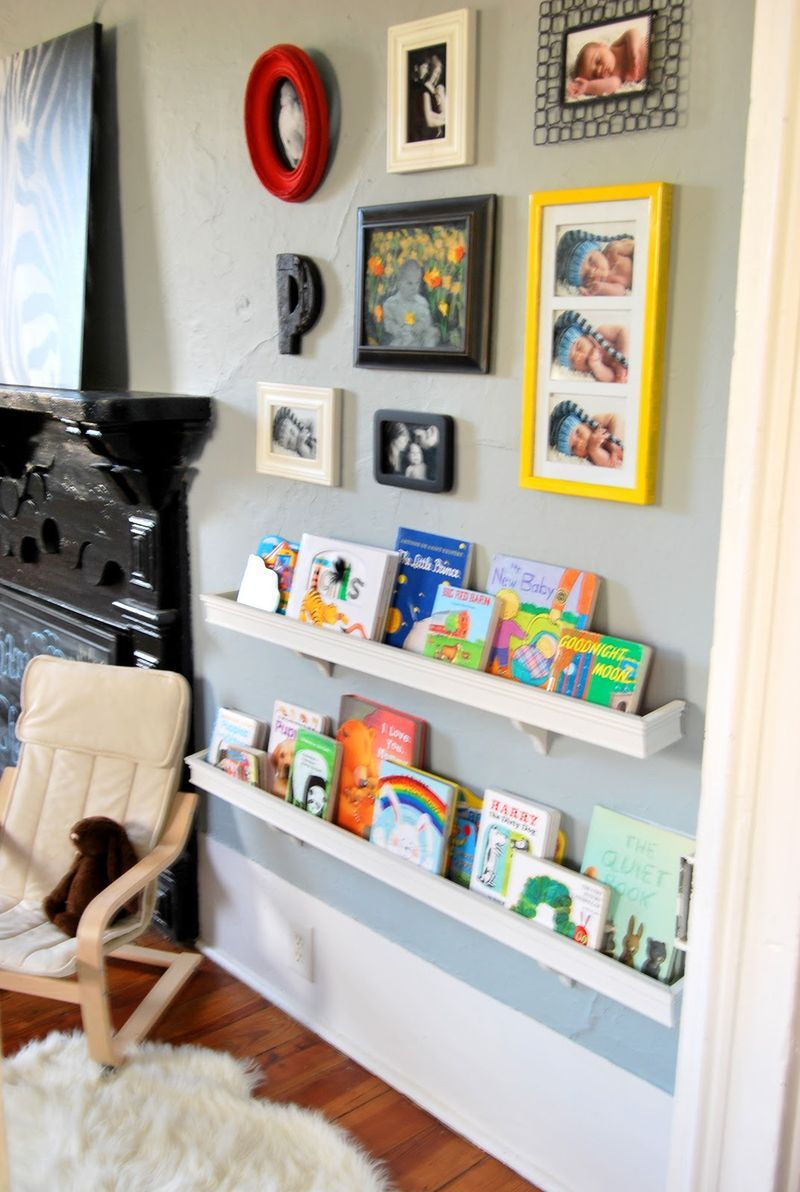 ... have a wall not sure what to do with it take all shapes colors of frames book bin storage bookshelf enchanting childrens ... & Diy Children%27s Book Storage - Home Design